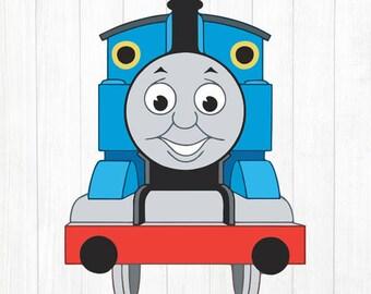 INSTANT DOWNLOAD - Train Svg, Train Svg Files, Train Svg Cut Files, Train Clipart, Train Cutting Files, Thomas Clipart Cutting Files, Train