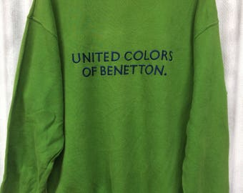 Benetton sweatshirt pullover size M