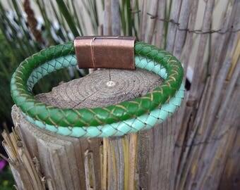 Women's leather bracelets,Bolo Braided leather bracelets Men's women's Braided leather bracelets