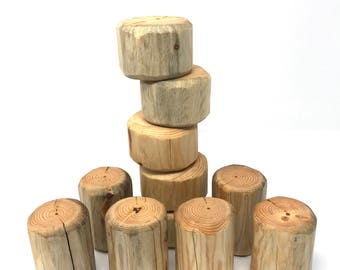 11 Large Log Blocks-Round Natural Eco Friendly Blocks