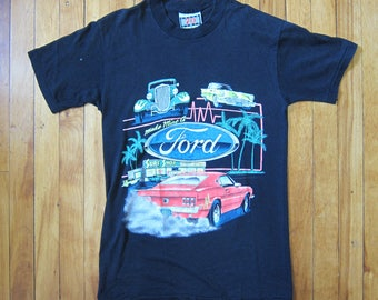 80s/90s Speed Limit 70 50/50 Blend 'Make Mine a Ford' Front Decal Short Sleeve TShirt