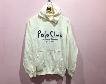 Sale vintage Polo Club big logo spell out hoodie