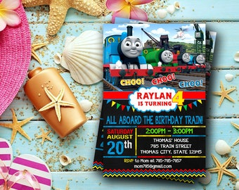 Thomas The Train Invitation / Thomas The Train Birthday / Thomas The Train Birthday Invitation / Thomas The Train Party / Thomas Train-424