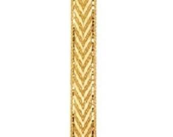 Width 10 mm gold metal Chevron stripe