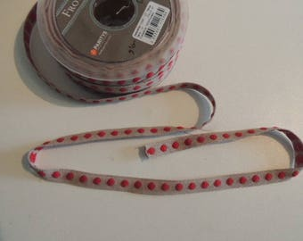 Fancy beige with red polka dots Ribbon