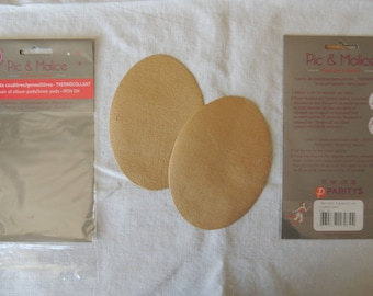 1 pair of elbow / knee pads on Beige for clothing