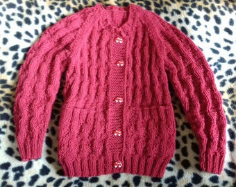 Knitted sweater from  100%merino wool for 1-2 year old baby