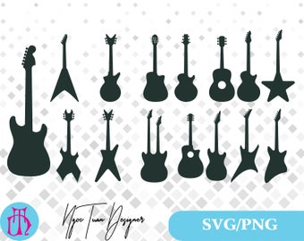 Guitars svg,png/Guitars clipart for Print,Design,Silhouette,Cricut and any more