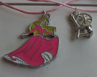 Aurora Sleeping Beauty necklace