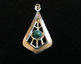 Turquoise Cut Out Pendant