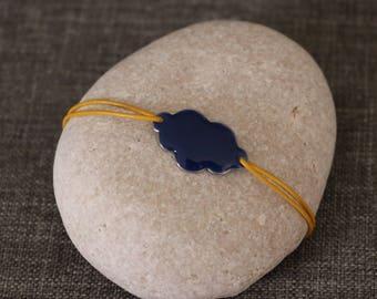 Fancy Bracelet: cloud blue and yellow