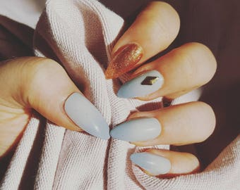 False Nails - Grey-diant