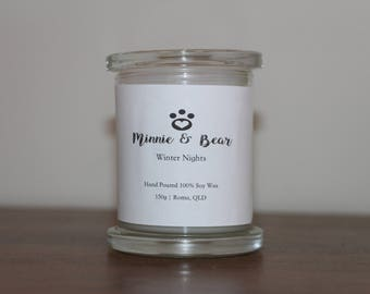 Winter Nights - 100% Soy Wax Hand Poured Candle