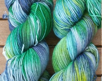 "Hand-dyed sock yarn 4 x ""Buabasach"""