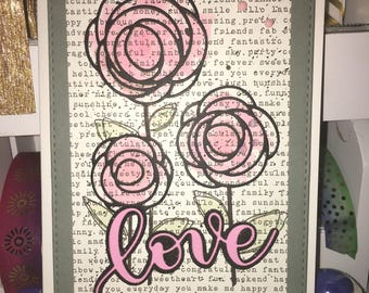 Love Card With Flowers