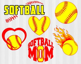 Softball SVG, Softball clipart, softball Silhouette, svg files, svg files for silhouette, cricut, softball mom, svg bundle, cuttable design