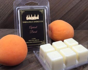 Apricot Burst Soy Wax Melts, Wax Melts, Soy Wax Melts, Soy Wax Tart, Soy Candle Melts, Wax Warmer, Scented Soy Tart, Wax Cubes