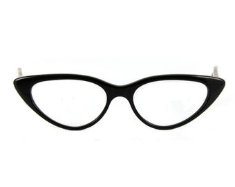 Big bold 50s style Cat eye glasses Beautiful sexy large contemporary 'BARDOT' Black/Tortoiseshell Rx able Lens quotes or frame ready