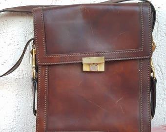 """Celine Handbag, Vintage Celine Bag 1990s,  """"Celine Paris"""", brown leather bag"""