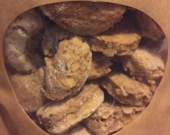 Roast beef dog cookies