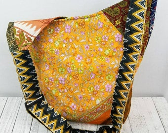 Boho bag recycled material recycled bag eco friendly purse hippie purse floral print