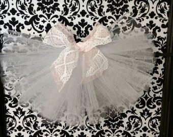Shabby Chic in Peach Bridal Booty Veil