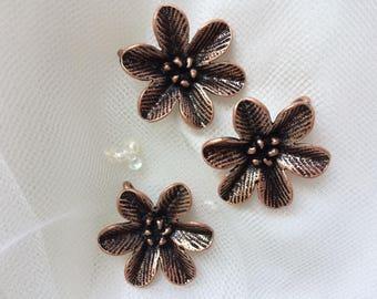 Set of Three Flower Embellishments