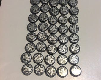 Recycled Coors Light Beer bottle caps Lot of 50 used recycled Coors Light caps Great for Crafts Jewelry Trash art