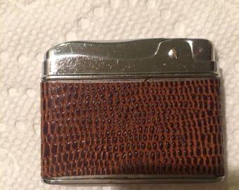 Vintaage PENGUIN'S Leather Wrapped Cigarette Lighter