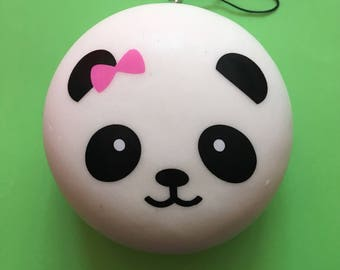 JUMBO Slow Rising Panda Bun Squishy Free With Purchase of 2oz Blueberry Butter Slime