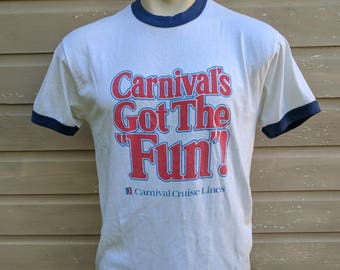 Vintage 80s Carnival Cruise Tee