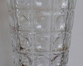 Glass patterned vase geographical.
