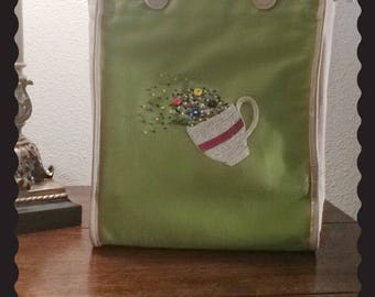 Floral Hand Embroidered purse
