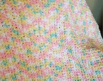 Crochet Baby Blanket-Bright colors