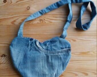Handbag shoulder bag in jeans