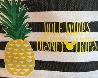Dole Whips Disney Trips Beach Tote Bag