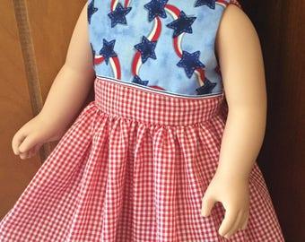 "Patriotic Dress for 18"" Dolls"