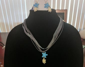 eSea Creatures Necklace/Earring Set
