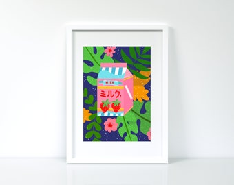 A4 Art Print- Tropical Milk