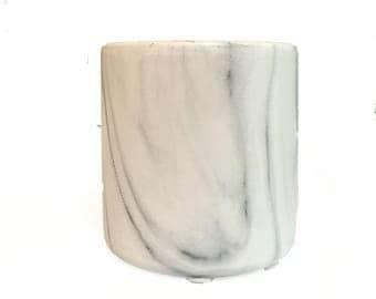 faux marble vase votive candle holder decor planter marbleized home good accessory art