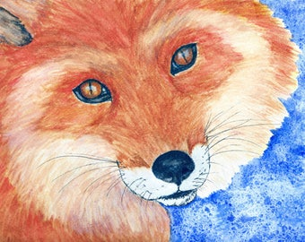 Fox Watercolor Giclee Print