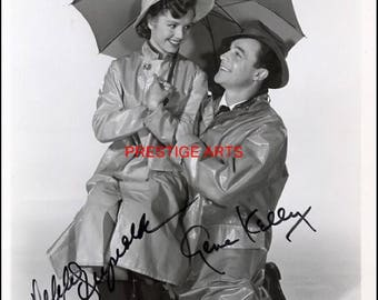 Gene Kelly and Debbie Reynolds signed autograph print