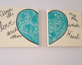 Love with your whole heart Canvases