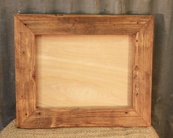Reclaimed Wood Picture Frame, Rustic