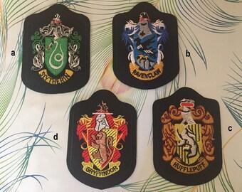 Harry Potter patch, Hogwarts Patch, Harry Potter iron on patch, Gryffindor, Slytherin, hufflepuff, ravenclaw
