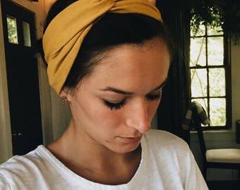 knotted headband, stretchy headband