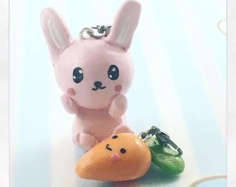 Bunny and Carrot BFF charms