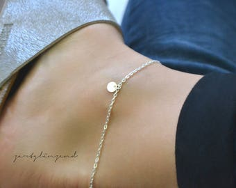 "925 sterling silver anklets ""XS"""