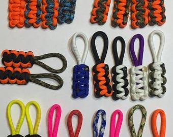 Custom Paracord zipper pulls (set of 4)