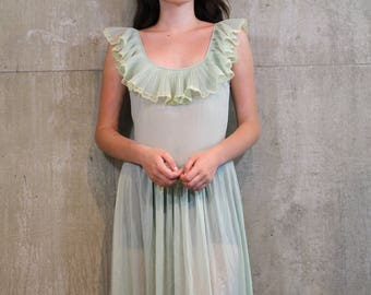 Vintage Green Princess Nightgown